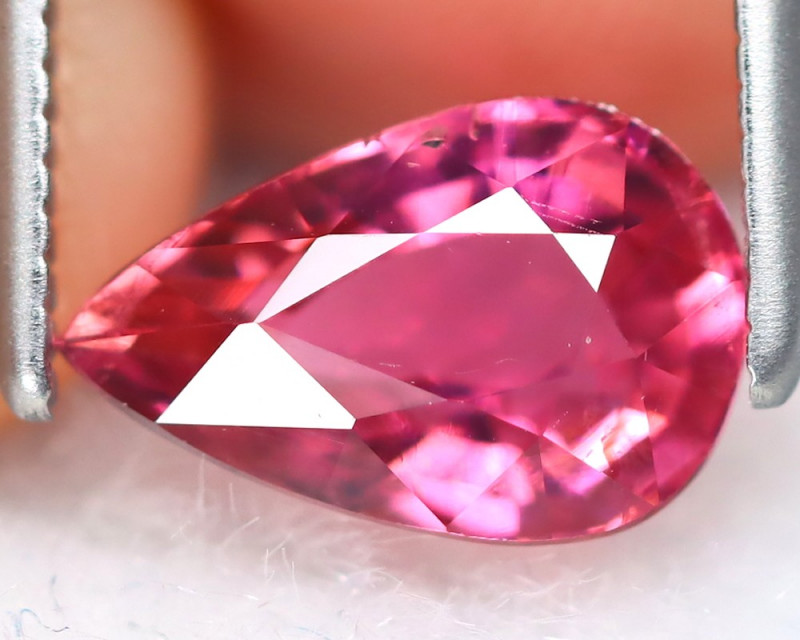 Pink Tourmaline 1.42Ct VS2 Pear Cut Natural Vivid Pink Tourmaline B7370