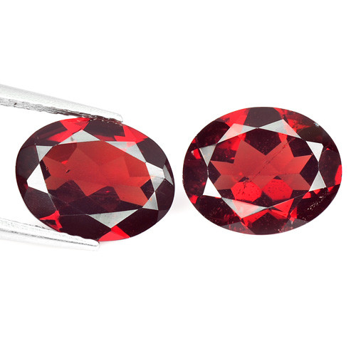 Rhodolite Garnet 4.64 Cts 2 Pcs Natural Gemstone