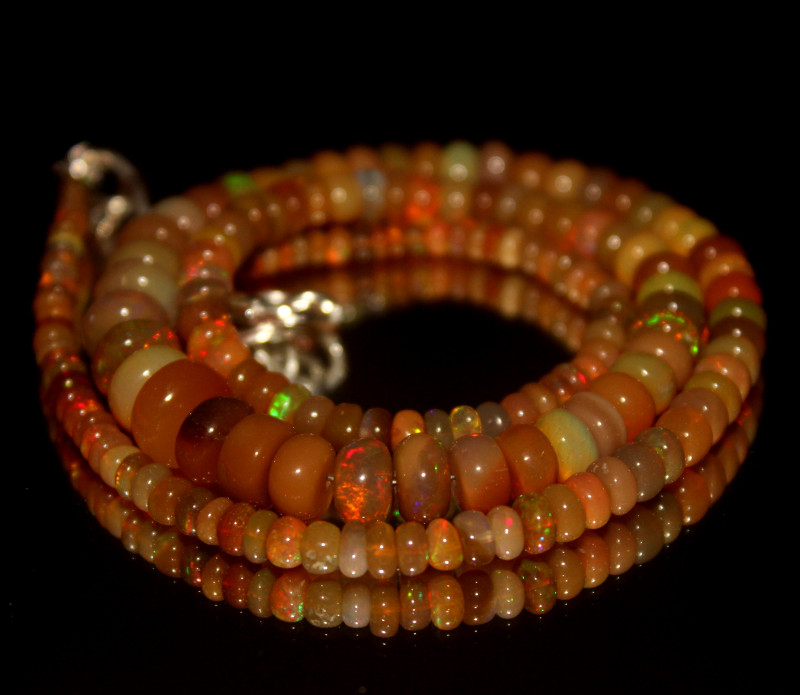 60 Crt Natural Ethiopian Welo Opal Necklace 3033