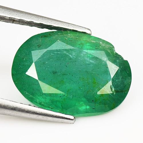 *No Reserve*Colombian Emerald 2.08 Cts Natural Vivid Green Loose Gemstone