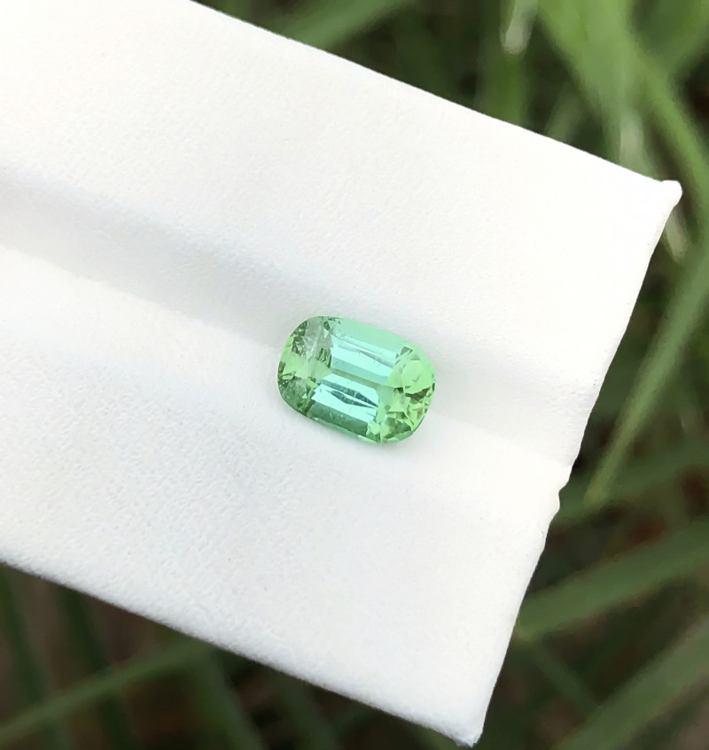 1.80 Ct Natural Greenish Blue Transparent Tourmaline Ring Size Gemstone
