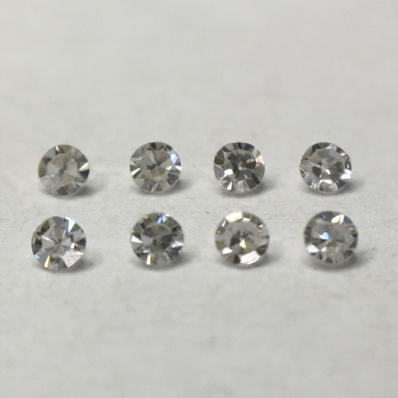 0.045ct 8 x Fancy Light Grey VVS Single Cut Round Diamond