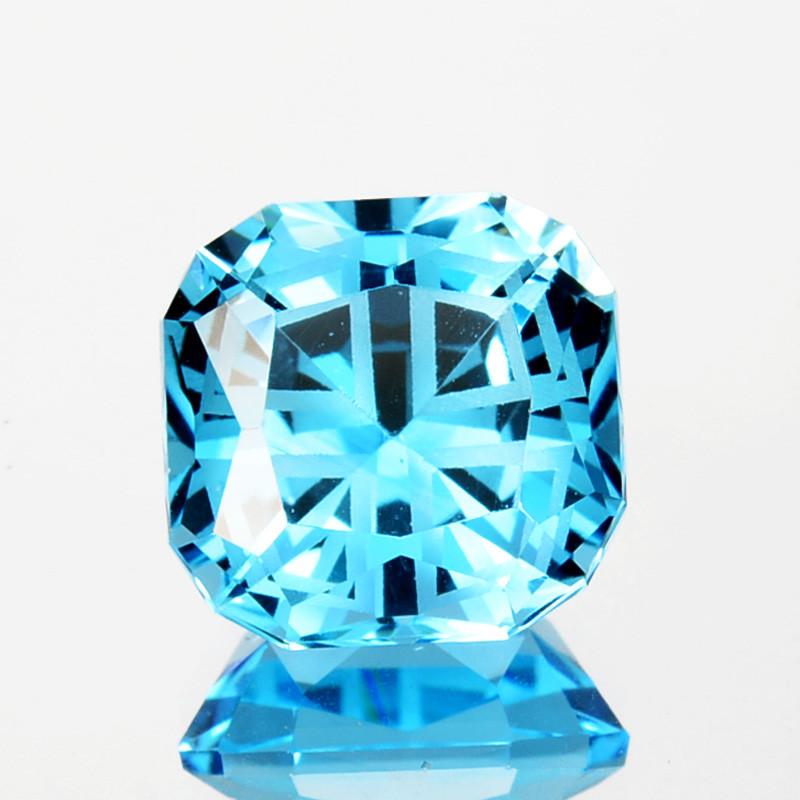 ~CUSTOM CUT~ 5.24Cts Dazzling Natural Swiss Blue Topaz Fancy Trillion USA