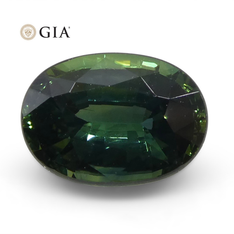 1.2ct Oval Teal Blue Sapphire GIA Certified Australian