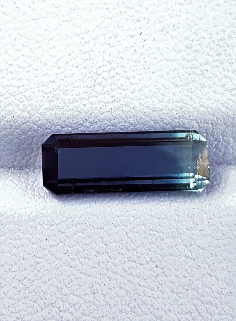 2.95Cts Eye Clean Natural Lovely  Bicolor Emerald Cut Tourmaline2.95Cts-Afg