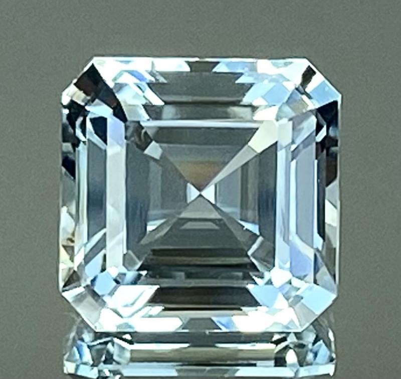 9.91Ct Aquamarine Excellent Asscher Cut Beautiful Quality Gemstone. AQF 17