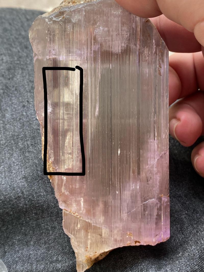 Kunzite  crystal Rare specimen with Skull shape Natural