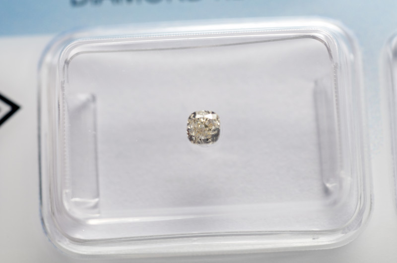 IGI Certificate Diamond 0.19 ct square cushion cut U-V color  VVS 1