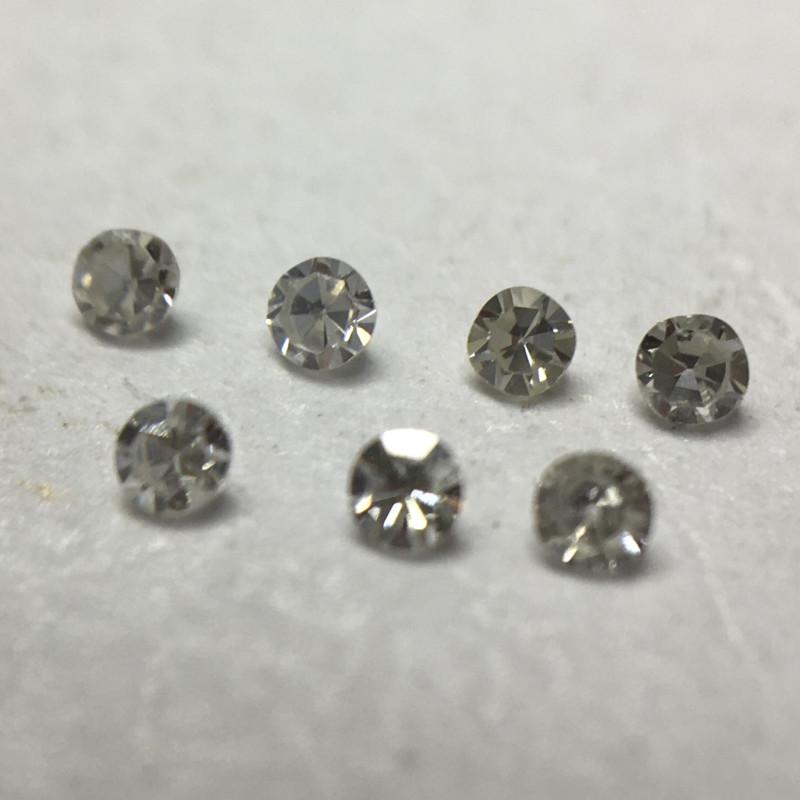 0.055 ct 7 x Fancy Grey Vs/Si Single Cut Round Diamonds