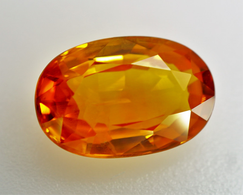 2.13 ct Natural Earth Mined  Orangey - Yellow Sapphire Sri lanka - IGE  Cer