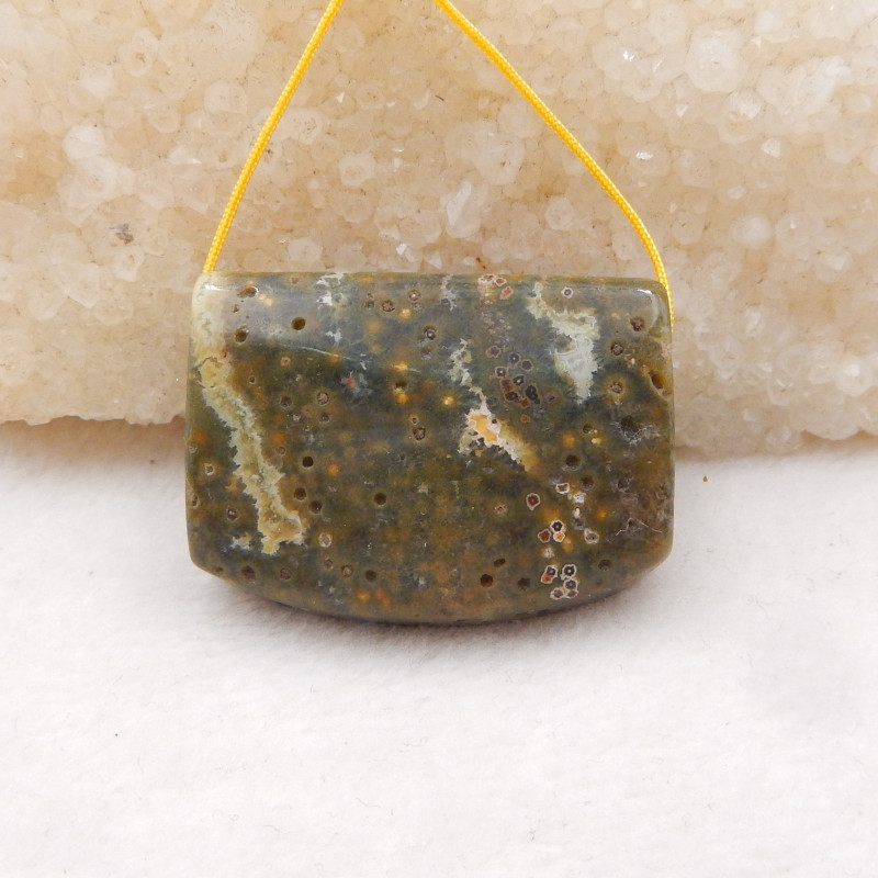 108ct Ocean Jasper Pendant ,Natural Ocean Jasper ,Gemstone Pendant H1191
