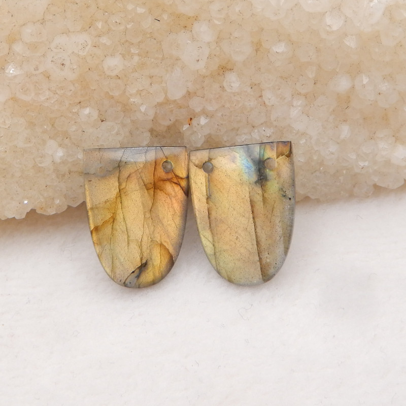23.5cts Natural Labradorite Earrings Handmade Earrings Gift H1213