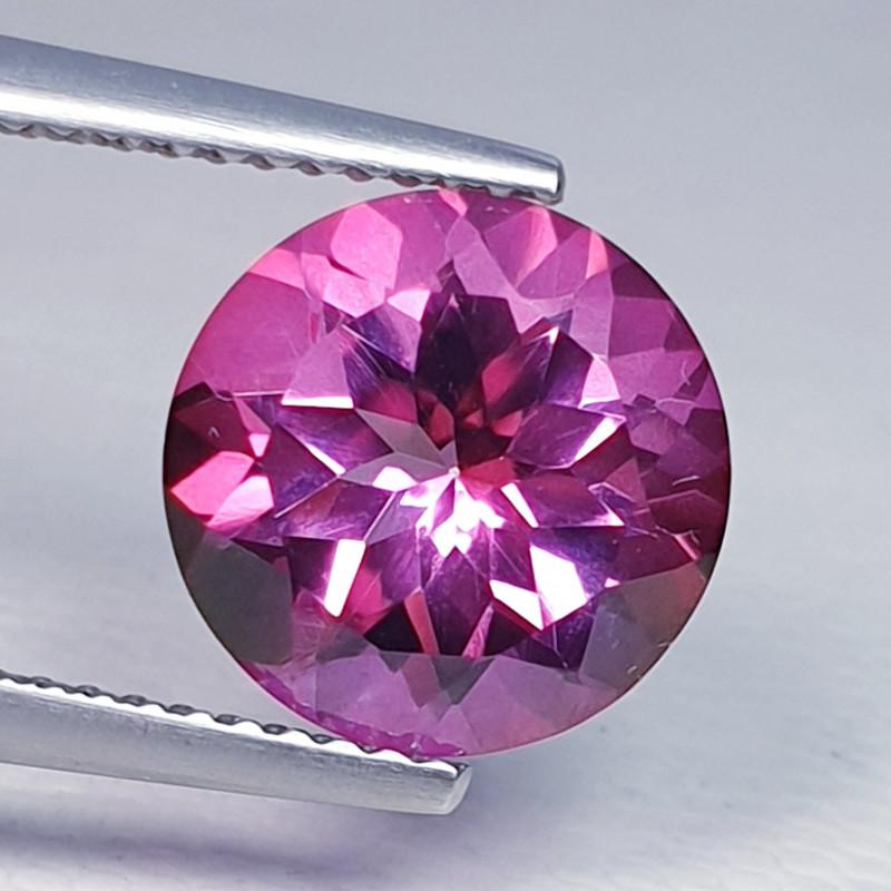 3.82 ct Top Quality Gem Stunning Round Cut Natural Pink Topaz