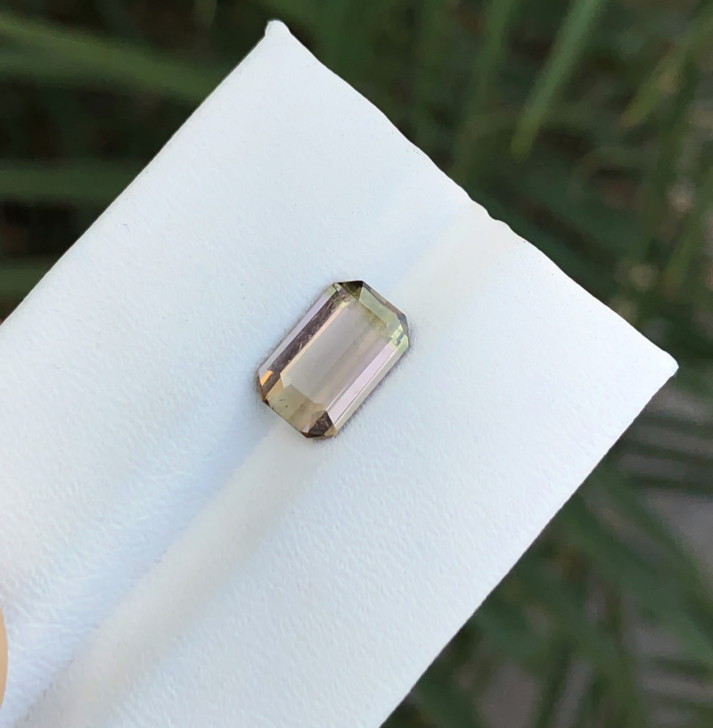 1.90 Ct Natural Bi Color Transparent Tourmaline Ring Size Gemstone