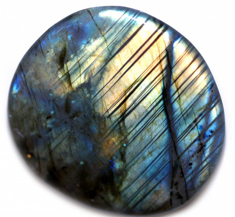 125.00 CTS  LABRADORITE DICS -IDEAL WIRE WRAPPING  [STS2032]