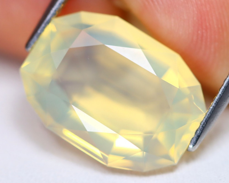 Jelly Opal 5.52Ct Octagon Cut Natural Mexican Jelly Opal A0413