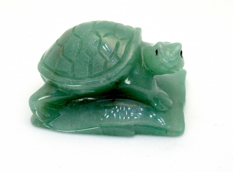 267.05ct Chinese Green Aventurine Turtle Carving