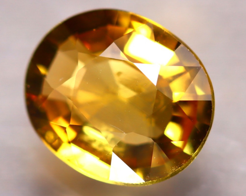 Tourmaline 1.76Ct Natural Golden Yellow Tourmaline E0906/B48