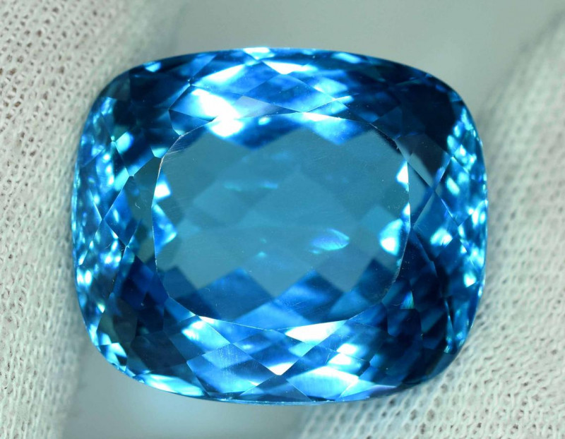 84.45 carats Swiss Blue Topaz Loose Gemstone