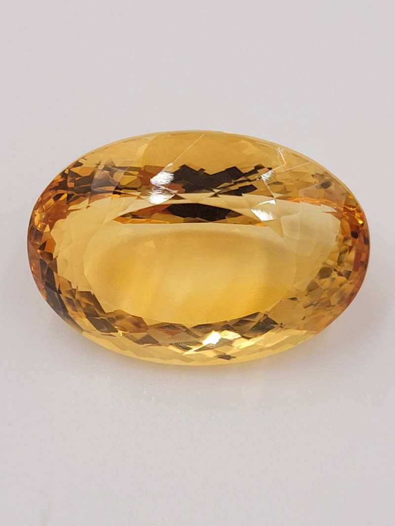 Oval  checker cut 47.5cts Citrine