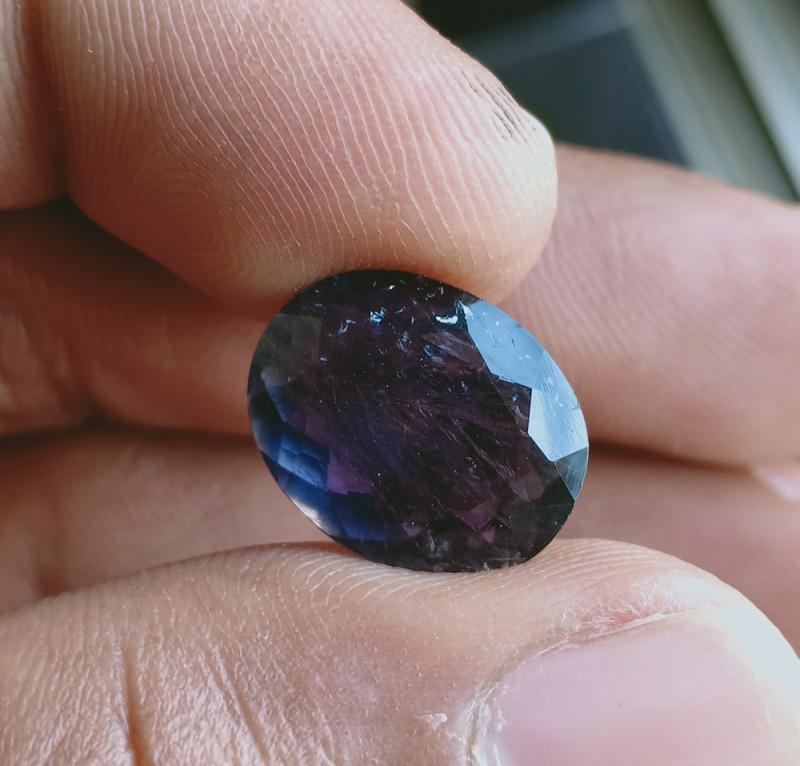 Natural iolite Gemstone Faceted Genuine Gem VA2679