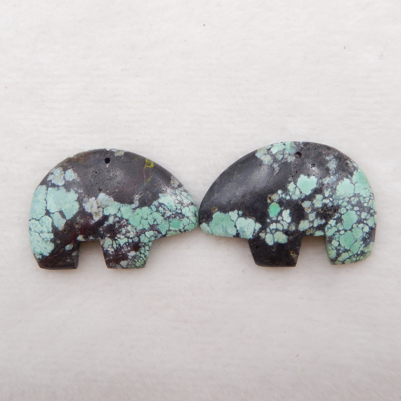 64cts Lucky Turquoise ,Handmade Gemstone ,Turquoise Cabochons Beads  ,Lucky