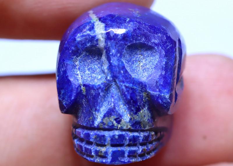 46.90 carats Lapis Lazuli Skull Carving ANGC- 866