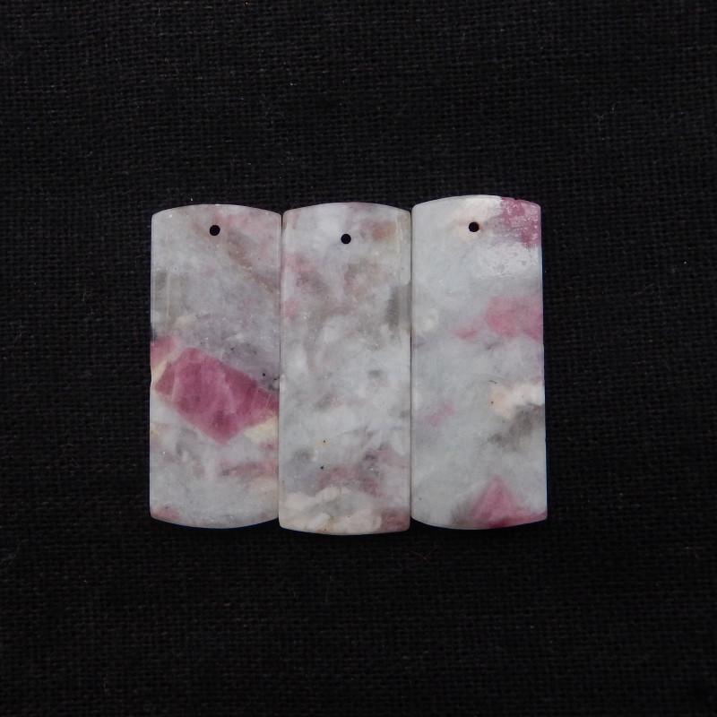 43.5cts Natural Pink Tourmaline Pendant Bead,Healing Stone H1300