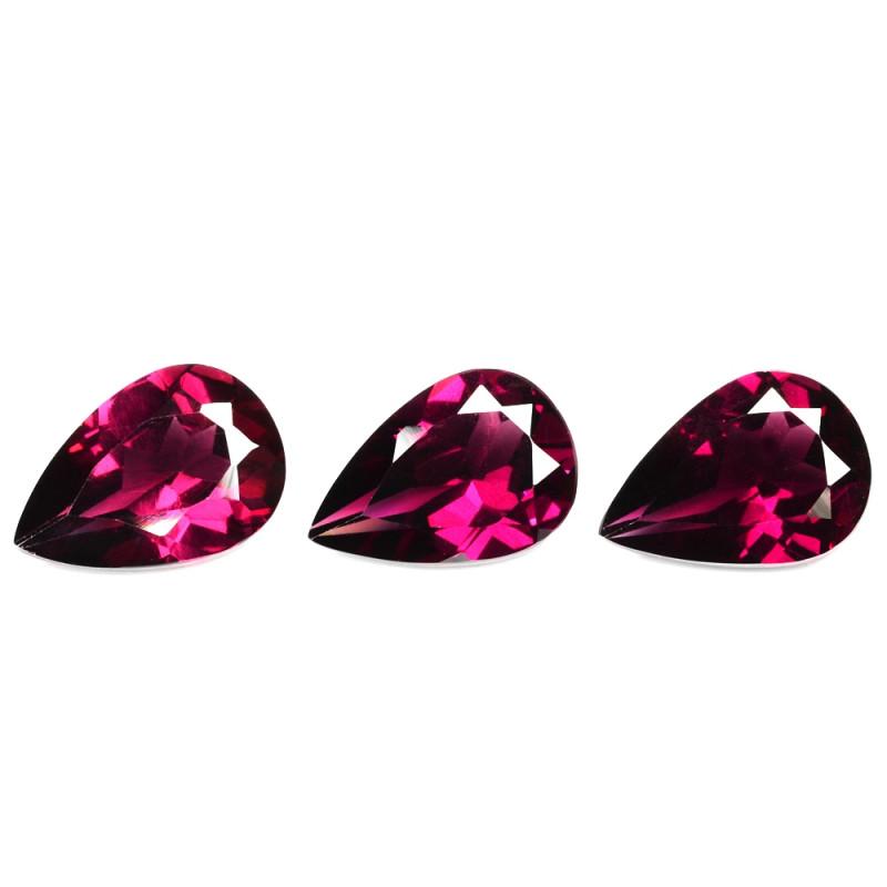*No Reserve*Umbalite Garnet 5.95 Cts 3 Pcs Unheated Natural Pinkish Purple