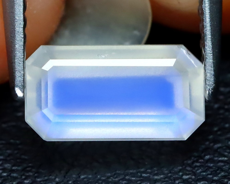 Blue Moonstone 1.36Ct Octagon Cut Natural Ceylon Blue Moonstone B1811