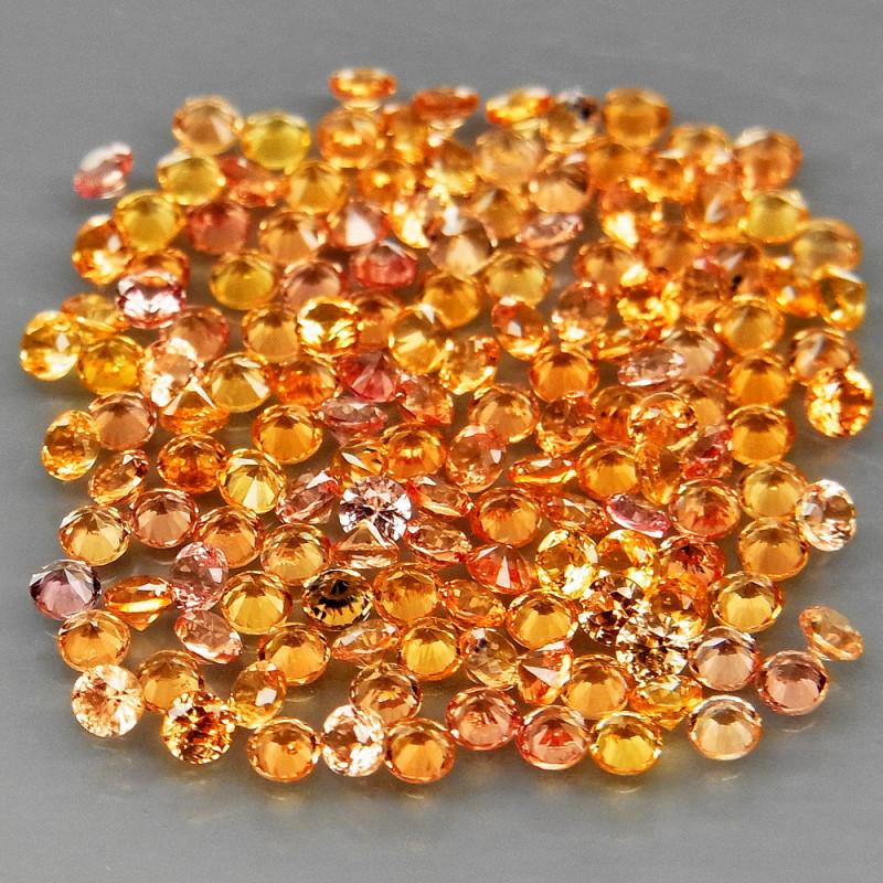 150 Pcs /4.35Ct.   Diamond Cut 1.7 mm.Ravishing Color Yellow Natural  Sapph