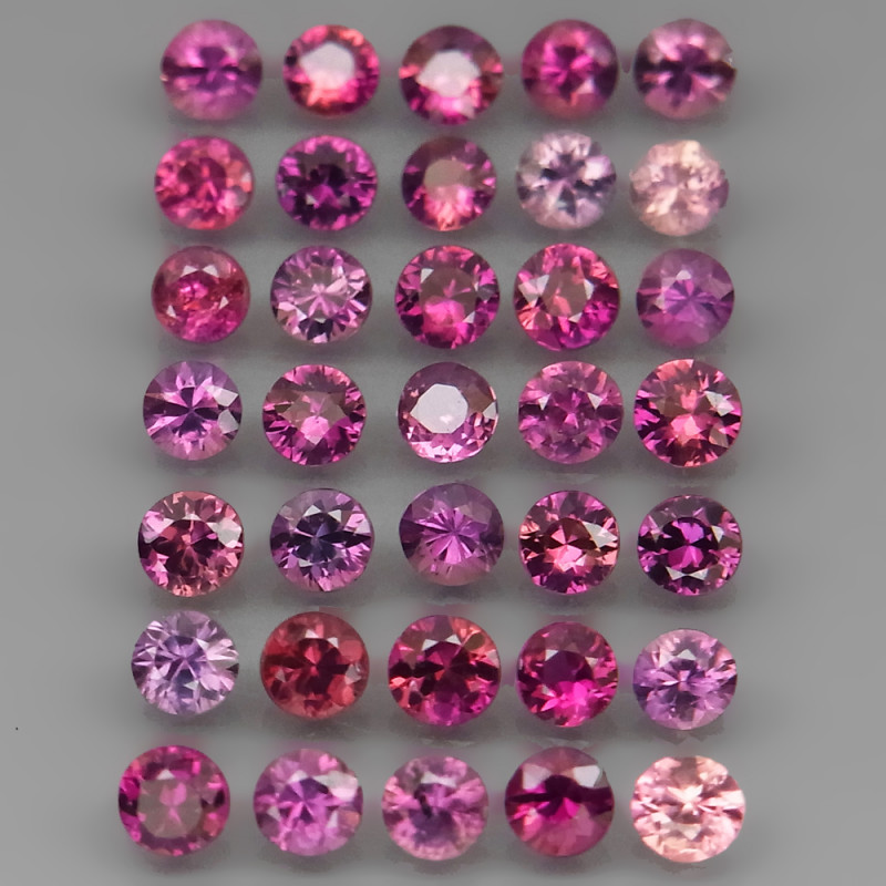 UNHEATED 5.16 Ct. 3.0 - 3.2 mm Natural Fancy Color Sapphire Africa Diamond