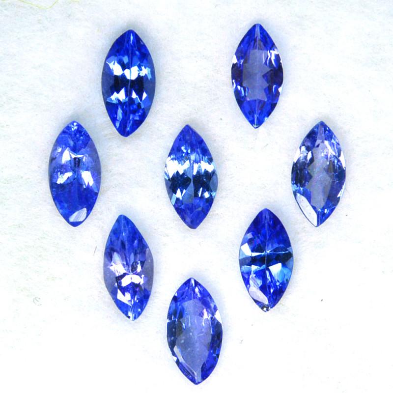 2.05 Cts Natural Purple Blue Tanzanite 6x3mm Marquise 8Pcs Tanzania