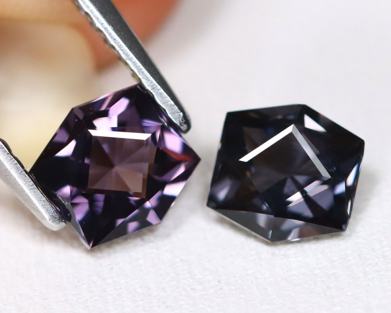 Spinel 1.72Ct 2Pcs VVS Master Cut Natural Burmese Purple Spinel B2408
