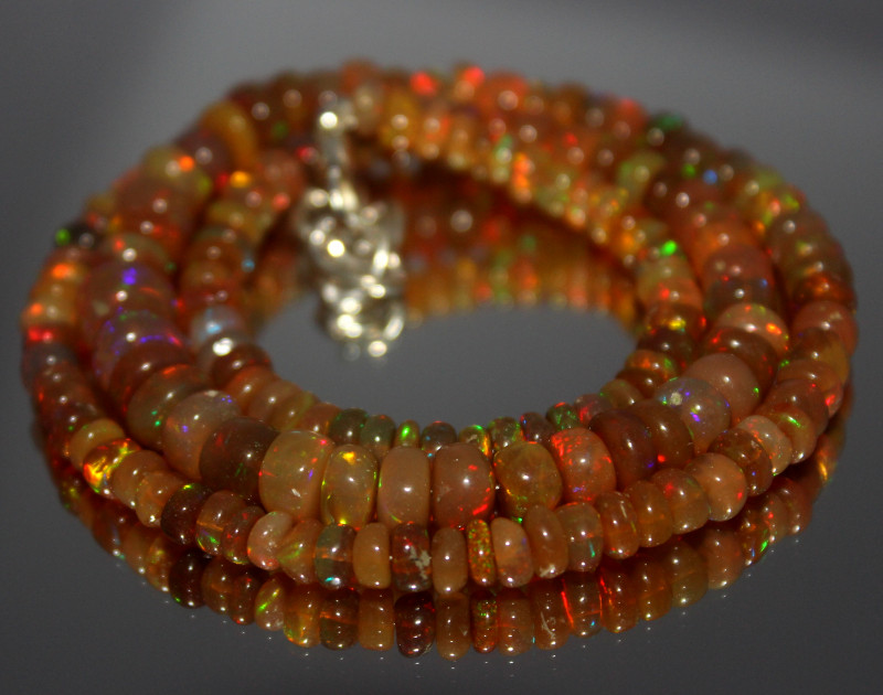 63 Crt Natural Ethiopian Welo Opal Necklace 454