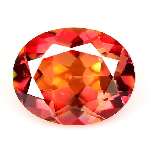 *No Reserve*Mystic Topaz 2.74 Cts Orange Red Color Natural Gemstone