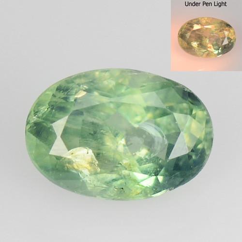 *No Reserve*Alexandrite 0.65 Cts Color Change Green To Orange Natural Gemst