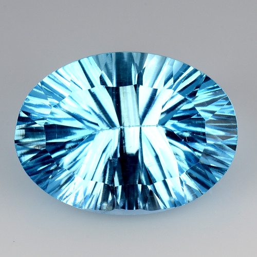 10.00 CT BLUE TOPAZ AWESOME COLOR AND CUT GEMSTONE TP24