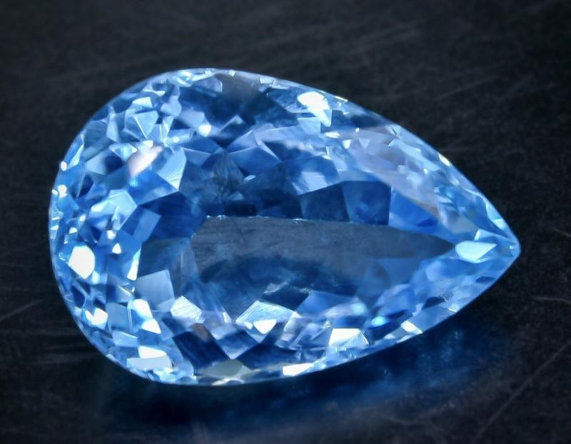13.13 Crt Natural Topaz Faceted Gemstone.( AB 75)
