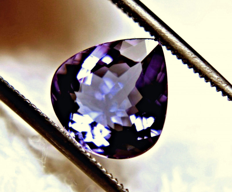 CERTIFIED - 2.69 Carat VVS1 African Tanzanite Pear - Superb