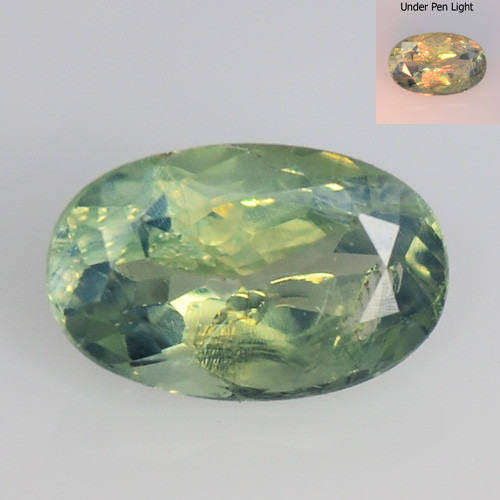 Alexandrite 0.54 Cts Amazing Rare Color Change Green To Orange Natural