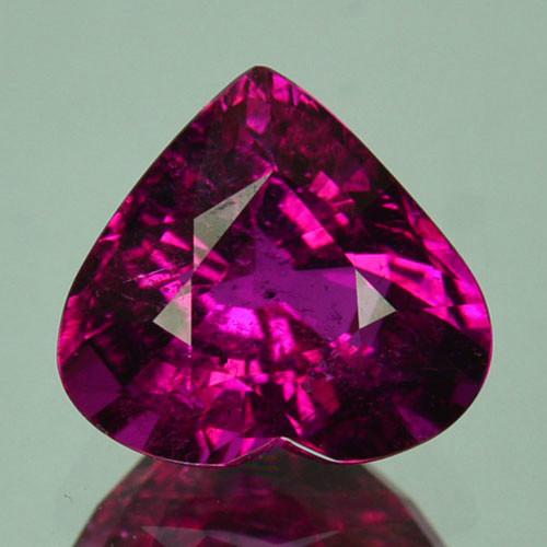 3.40Cts Natural  Pink Rubellite Tourmaline Heart Cut Mozambique