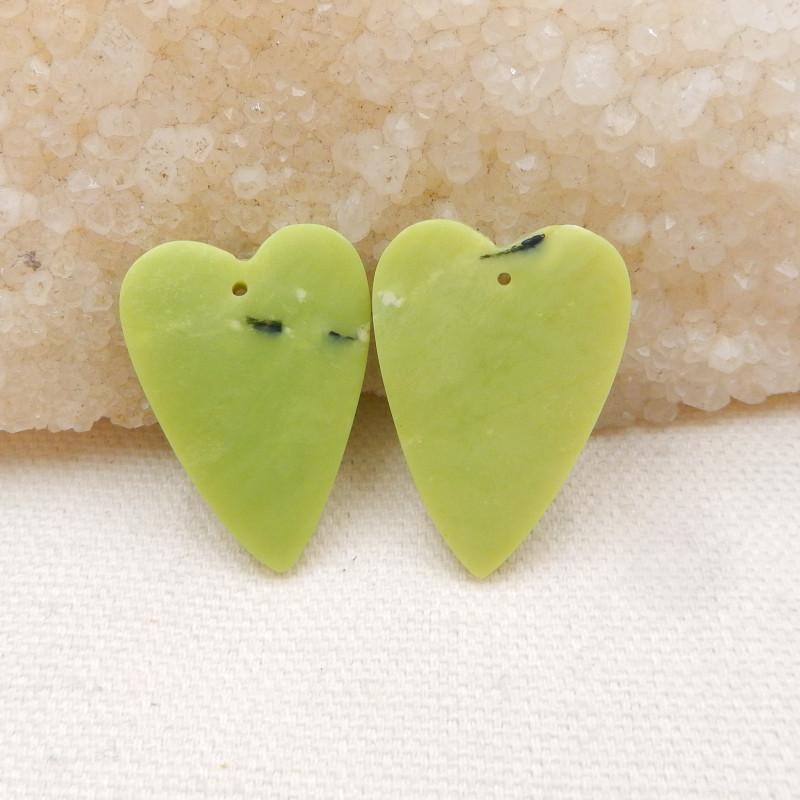 39ts Heart shape earrings Serpentine Jasper earrings ,earrings ,healing sto