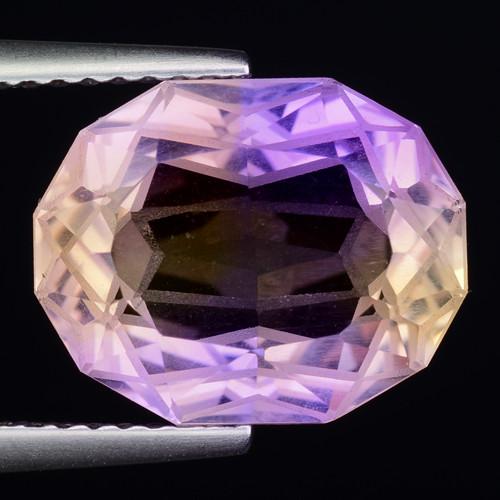5.71 Cts Bolivian Ametrine Stunning Luster & Cut Gemstone  AF5