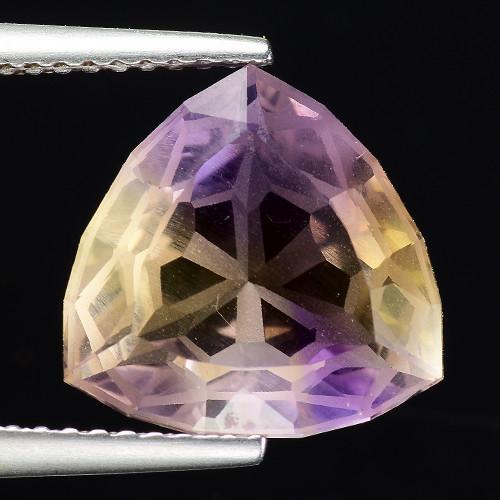 4.64 Cts Bolivian Ametrine Stunning Luster & Cut Gemstone  AF10
