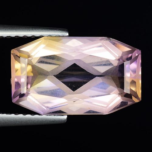 5.45 Cts Bolivian Ametrine Stunning Luster & Cut Gemstone  AF30