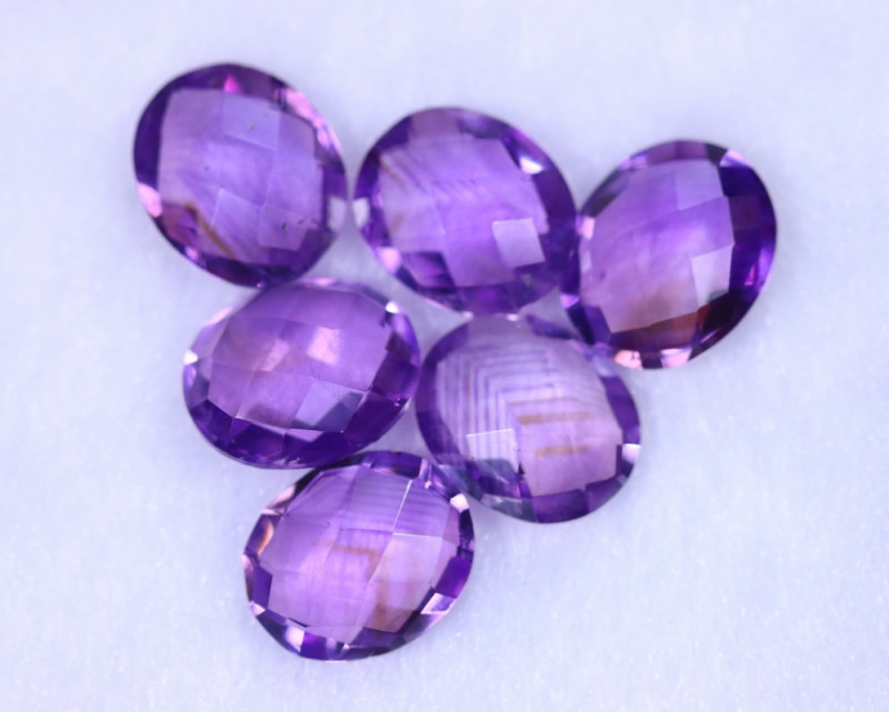 Checkerboard Cut21.38cts Natural Purple Amethyst Lost / MA1151