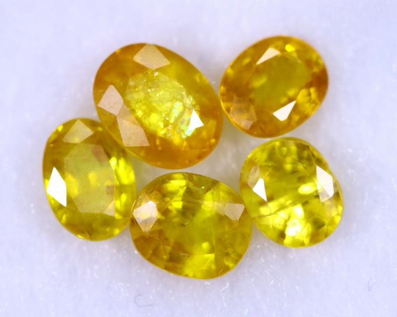6.81cts Madagascar Yellow Sapphire Lots / MA1154