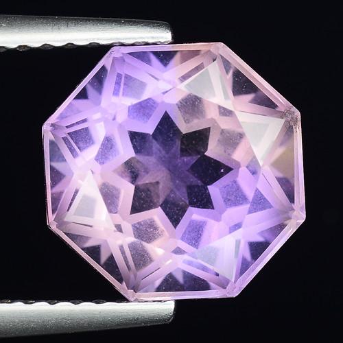 3.86 Cts Bolivian Ametrine Stunning Luster & Cut Gemstone  AF32