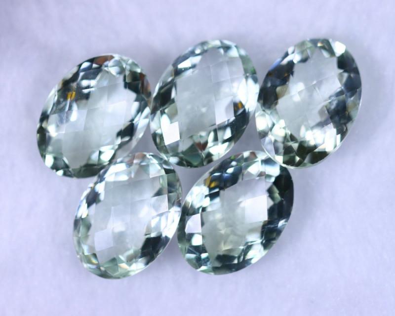 Checkerboard Cut 57.14cts Natural Green Amethyst Lots / MA1174
